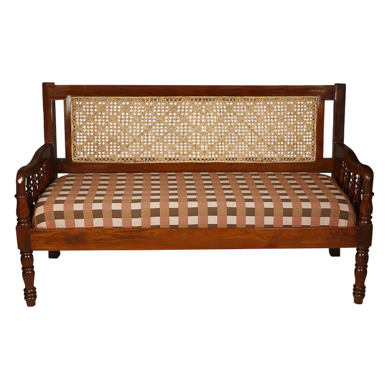 Sofa 3 Seater With Cane Work